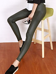Women's Solid Color Multi-color Pants , Sexy / Bodycon / Casual Mid Rise Skinny