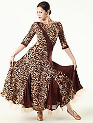 Robes ( Noire / Violet / Rouge / Imprimé léopard , Tulle / Viscose , Danse moderne ) Danse moderne - pour Femme