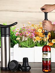 vinho de alta qualidade protetor de bomba de vácuo com duas rolhas - prata + preto