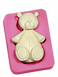 Little Teddy Bears Silicone Fondant Silicone Sugar Craft Molds Cartoon DIY Cake Decorating Tools