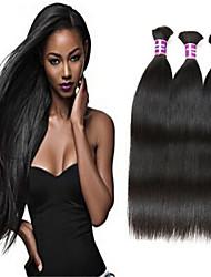 3pcs / lot cabelo virgem straigh volume do cabelo humano atacado cabelo humano granel brasileira sem grandes quantidades de cabelo humano