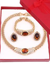 Wedding / Party-Necklaces / Earrings / Rings / Bracelets & Bangles(Alloy / Rhinestone)