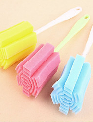 Sponge Glass Bottle Cup Cleaner Kitchen Washing Cleaning Tools Random Colors New