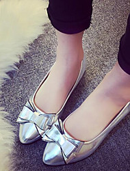 Women's Flat Heel Pointed Toe Fashion Pumps Bowknot Shoes