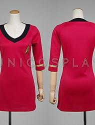 Star Trek Dress Female Duty Uniform TOS Red Cosplay Costume