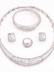 Ensemble de bijoux Femme Anniversaire / Mariage / Fiançailles / Cadeau / Sorée Parures Alliage StrasColliers décoratifs / Bracelets /