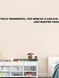 w-18 Yoda adesivo de parede adesivo mestre jedi verdadeiramente maravilhoso decalque de vinil