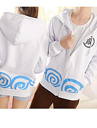 Inspired by Gintama Gintoki Sakata Anime Cosplay Costumes Cosplay Hoodies Print White / Black Long Sleeve Top