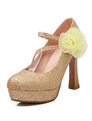 Women's / Girl's Wedding Shoes Heels Heels Wedding / Office & Career / Party & Evening / Dress Red / Silver / Gold