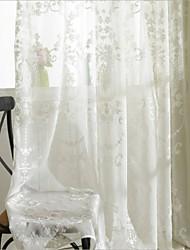 Dos Paneles Ventana Tratamiento Campestre Dormitorio Poliéster Material cortinas cortinas Decoración hogareña For Ventana