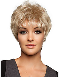 2016 New Fashion Full Wig Blonde Mix Short Straight Women's Synthetic Wig