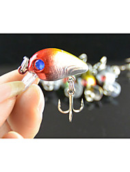 Anmuka Crank 3CM 1.5G 5colors Lifelike  Fishing Lures Hard Bait  Treble Hook 10# Fishing Tackle Lure fishing bait