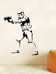 w-27 star wars sticker chambre sticker art mural décoration de la maison bricolage décalque de mur amovible