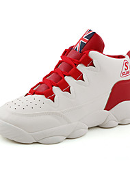 Male Basketball Shoes Men's Casual Sports Shoes Black/White/Red