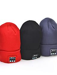 мягкая теплая зима шляпа Беспроводная Bluetooth шапочку смарт крышка гарнитура наушники для iphone Sumsung мобильного телефона