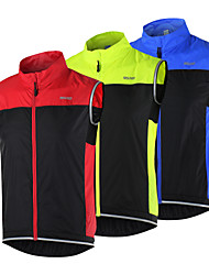 Arsuxeo Cycling Vest Women's Men's Unisex Sleeveless Bike Breathable Quick Dry Windproof Lightweight Materials Reflective Strips