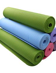 TPE Йога коврики 183*61*0.6 Non Toxic 6 mm Синий / Зеленый / Оранжевый / Темно-фиолетовый #