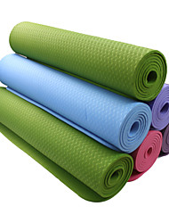 TPE Mats Yoga 183*61*0.6 Non Toxic 6 mm Viola scuro / Blu / Verde / Arancione #