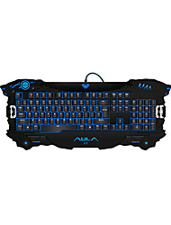 AULA 3 Color USB Multimedia Backlight Backlit Gaming Keyboard