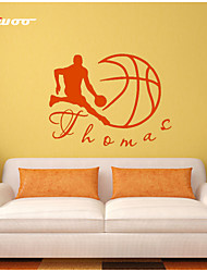 AWOO®   Play Basketball  Wall Stickers Home Decor  Vinyl Man Stickers For Kids Room Decoration 4024S