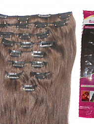 Ibeshion Affordable 145 grams 9pcs 21 Clips Straight Clip In Human Hair Extensions #1b #2 #4 #6 Brazilian Remy Hair