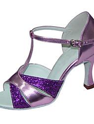 Zapatos de baile ( Negro / Marrón / Morado / Plata / Oro / Chocolate / Otro ) - Latino / Salsa / Samba / Zapatos de Swing -No