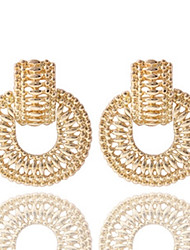 Bohemia Gold Plated Round Stud Earring