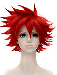 12inch curto Ranbu touken on-line airanguojun peruca cosplay vermelho qy-022
