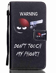 HZBYC®Do Not Touch Me Pattern PU Material Card Lanyard Case for Galaxy Note 5