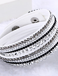 Leather Bracelets Multilayer Wrap Bracelet Rhinestone Bracelets Fashion Jewelry  for Bestfriend chain Bracelet 1 pc Lureme® Christmas Gifts