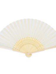Silk Fans and parasols - 4 Piece/Set Hand Fans Garden Theme / Asian Theme White