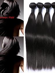 1bundles cabelo humano cabelo reto 8-26inch cabelo malaio cor natural virgem tece