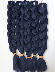 24inch Snythetic Braid  Hair  NAVY BLUE