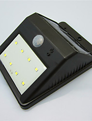 High Quality Waterproof Solar 8 LED Light Human Body Induction Lamp / Wall Lamp / Garden Courtyard Balcony Outdoor Lamp