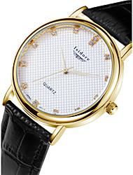 Men's Fashion Casual Genuine Leather Zircon Quartz Watches Wrist Watch Cool Watch Unique Watch
