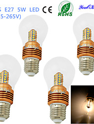 Ampoules Globe LED Décorative Blanc Chaud YouOKLight 4 pièces B E26/E27 5W 25 SMD 2835 460 LM AC 85-265 V