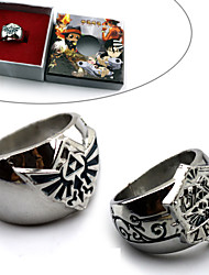 Jewelry Inspired by The Legend of Zelda Cosplay Anime/ Video Games Cosplay Accessories Ring Blue / Silver Alloy Male