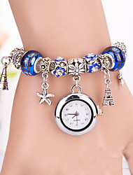Fashion Women'S Watches Diamond Beads Bracelets Analog Quartz Watches(Assorted Colors)