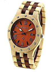 legno uomo orologi romano di legno di sandalo orologio ecologico impressionante orologio uomo di legno unico
