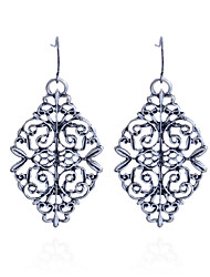 Fashion Vintage Hollow Out Flower Drop Earrings