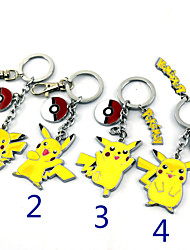 Cosplay Accessories Inspired by Pocket Monster PIKA PIKA Anime Cosplay Accessories Keychain Yellow Alloy Male / Female
