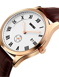 SKMEI® Men's Small Second Dial Quartz Business Watch Leather Strap