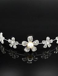 Women's Pearl Rhinestone Wedding Bridal Tiara Headpieces