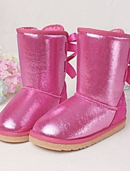Botas ( Rosa / Oro ) - Plataforma / Comfort / Botas de Nieve / Punta Redonda - Cuero / Purpurina