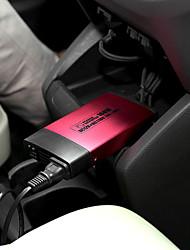 160W Auto Fahrzeug DC 12V zu Wechselstrom 110V matte Oberfläche Power Inverter-Adapter-Konverter w / USB-Anschluss - rot + schwarz