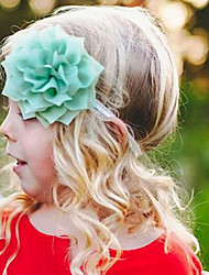 Kid's Big Flowers Bow Headband Random Color (3 Month-3Years Old)
