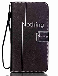 For Samsung Galaxy Note Card Holder / Wallet / with Stand / Flip Case Full Body Case Word / Phrase PU Leather Samsung Note 5