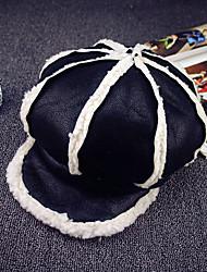 Women's High Quality Genuine Leather Warm Baseball Ivy Cap