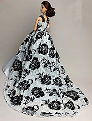 Party/Evening Dresses For Barbie Doll White / Black Dresses For Girl's Doll Toy