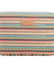 "Sleeve for Macbook 13"" Macbook Air 11""/13"" Macbook Pro 13""/15"" MacBook Pro 13""/15"" with Retina display Bohemian Style Canvas Material Stripes"